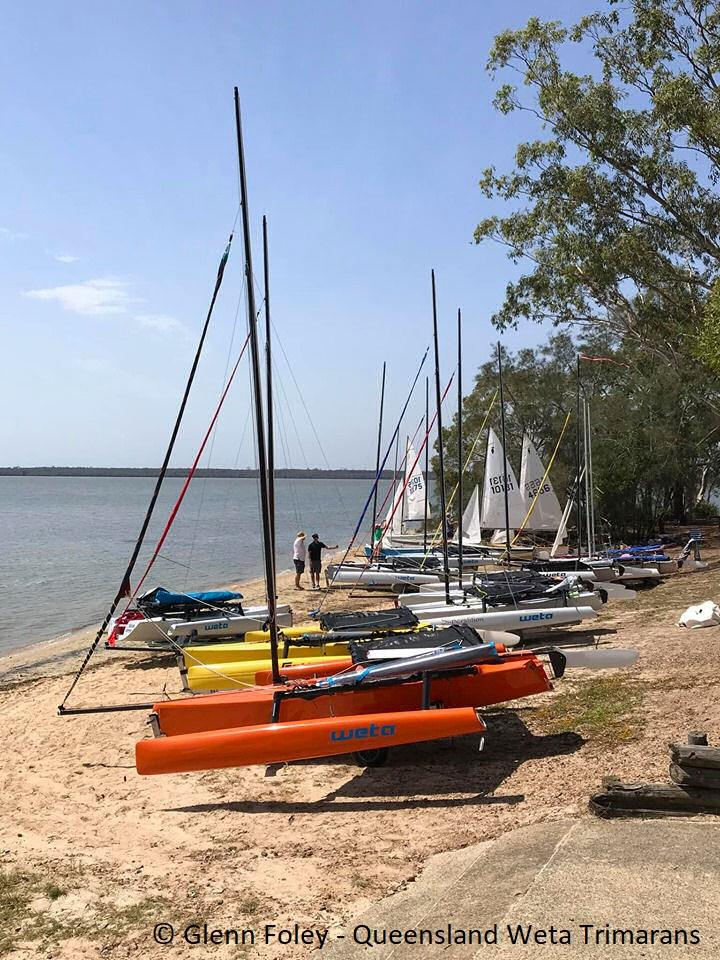 2019 Queensland Weta State Titles photo copyright Glenn Foley taken at Lake Cootharaba Sailing Club and featuring the Weta class