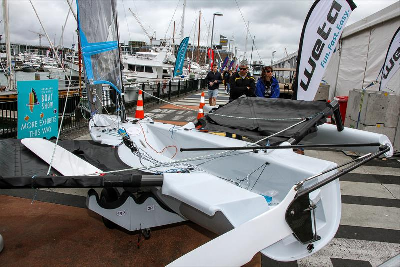 Weta Jib Track - Auckland On the Water Boat Show - Final day - October 6, 2019 photo copyright Richard Gladwell taken at Takapuna Boating Club and featuring the  class