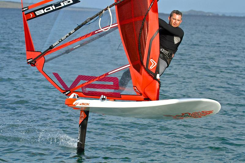 A Windfoiler is one of the new classes/equipment being promoted for the 2024 Olympic Regatta in place of the RS:X Windsurfer - photo © Richard Gladwell