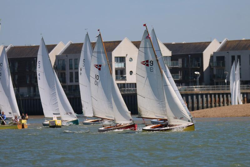 Wivenhoe One Design fleet on Learning & Skills Solutions Pyefleet Week day 4 - photo © William Stacey