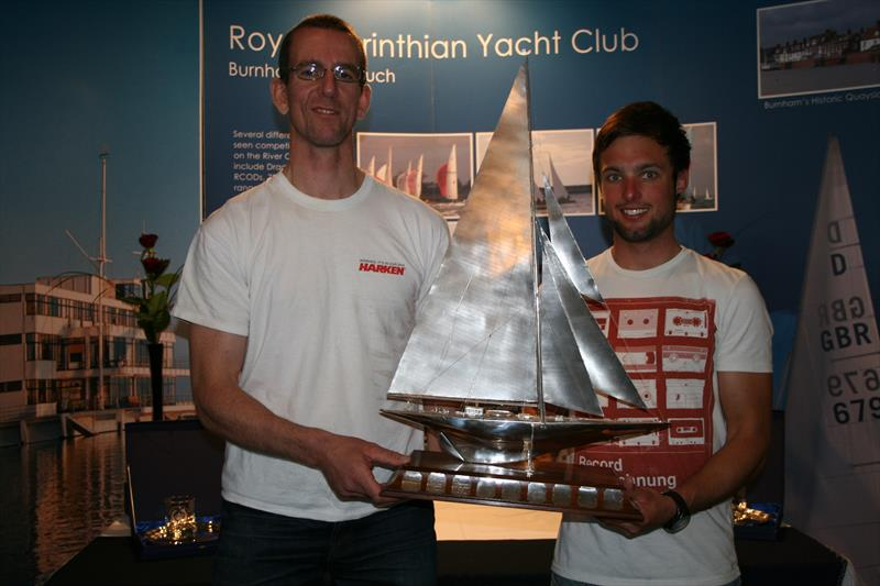 Nick Craig and Alan Roberts, representing the Merlin Rocket class, win the 2013 Endeavour Trophy - photo © Sue Pelling