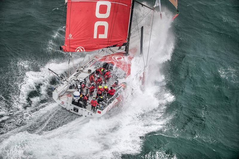 Zhik clothing put through its paces during the Volvo Ocean Race photo copyright Benoit Stichelbaut / Dongfeng Race Team taken at  and featuring the  class