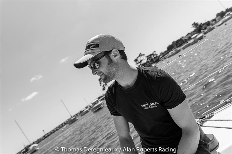 Alan Roberts aboard his Figaro yacht - photo © Thomas Deregnieaux Photography